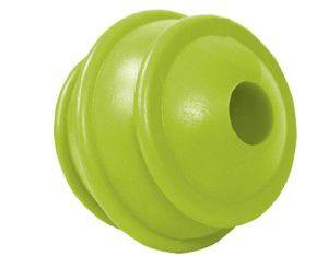Brinquedo borracha macica bola porta ossinho colorida 50mm - Furacao Pet - 10x10x10cm