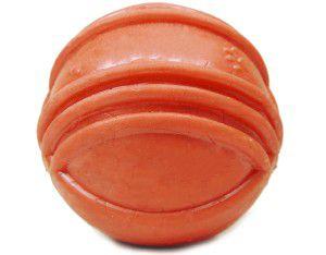 Brinquedo borracha macica bola com friso super big 90mm - Furacao Pet - 9x9x9cm