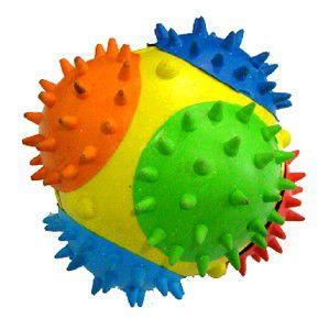 Brinquedo borracha bola moderna com espinhos - Chalesco - 7,5cm