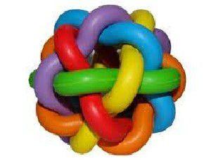 Brinquedo borracha bola multicor - Chalesco - 7cm