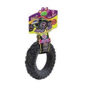 Brinquedo borracha macico pneu preto grande - American Pet's - 14,5x14,5x5cm