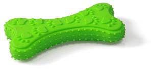 Brinquedo borracha ossinho com patinhas e cravos - Napi - 11 cm