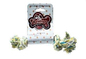 Brinquedo corda toy bone com aroma morango P - Cat Dog - 12cm