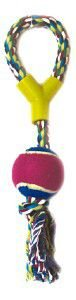 Brinquedo corda forca com bola de tenis - Chalesco - 32cm