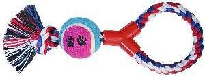 Brinquedo corda com bola de tenis forca - Napi - 29 cm