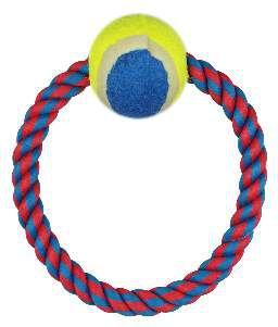 Brinquedo corda argola com bola de tenis - Napi - 20 cm