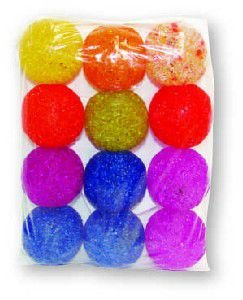 Brinquedo guizo bola pequena - Luna & Arreche - com 12 unidades - 5cm