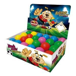 Brinquedo macico bola colorida - Furacao Pet - display 24 unidades - 45mm