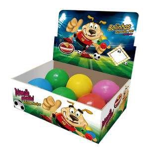 Brinquedo macico bola dogão - Furacao Pet - display 06 unidades - 80mm