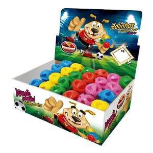 Brinquedo macico super ball - Furacao Pet - display 24 unidades - 45mm