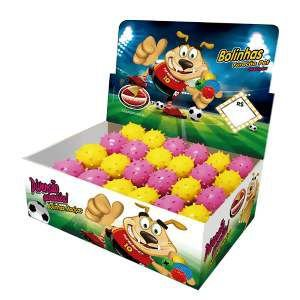 Brinquedo macico bola mamoninha - Furacao Pet - display 24 unidades - 45mm