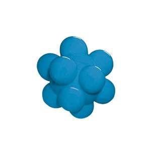 Brinquedo macico bola meteoro colorida - Furacao Pet - 60mm