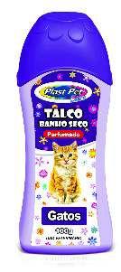 Talco Banho Seco Plast Pet Care Gatos - Pet Licenciados - 100 g
