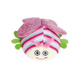Brinquedo de Pelúcia Joaninha Colorida - Home Pet - 16x7x17cm