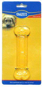 Brinquedo plastico osso massageador - Chalesco - 12x2cm