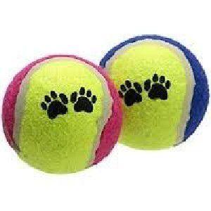 Brinquedo tecido bola de tenis - Chalesco - 6cm