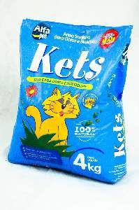 Areia sanitaria kets 4kg - Alfa Pet - com 5 unidades - 17x30x40cm
