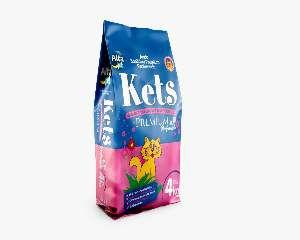 Areia sanitaria kets perfumada premium 4kg - Alfa Pet - com 5 unidades - 18x32x42cm