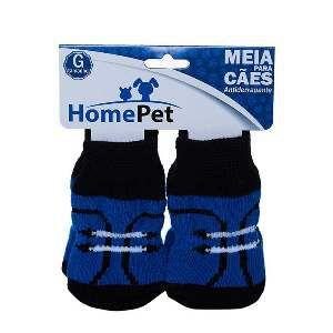 Meia poliester/algodao sapato preto G - Home Pet - 9x0,9x9cm
