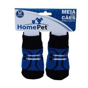 Meia poliester/algodao sapato preto M - Home Pet - 8x0,9x9cm