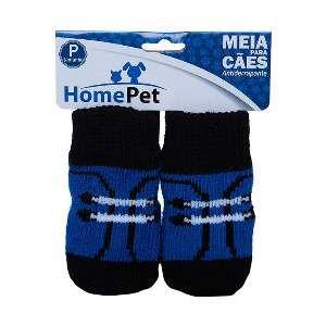 Meia poliester/algodao sapato preto P - Home Pet - 7x0,9x8cm