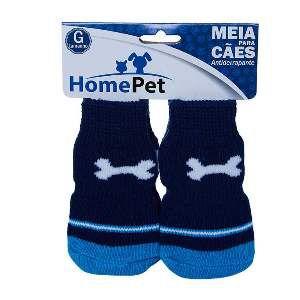 Meia poliester/algodao osso azul G - Home Pet - 9x0,9x9cm