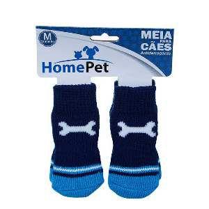 Meia poliester/algodao osso azul M - Home Pet - 8x0,9x9cm