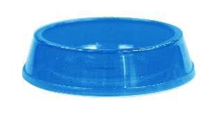 Comedouro plastico gato c/glitter azul 160ml - Pet Toys - 8x3cm