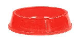 Comedouro plastico gato c/glitter vermelho 160ml - Pet Toys - 8x3cm