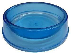 Comedouro plastico gato azul transparente 160ml - Pet Toys - 8x3cm