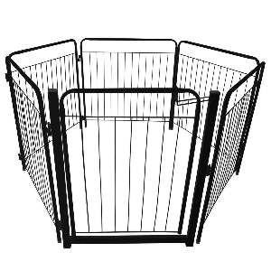 Cercadinho aco grande preto com portão - Leiromar - com 5 lados - 135x135x69cm