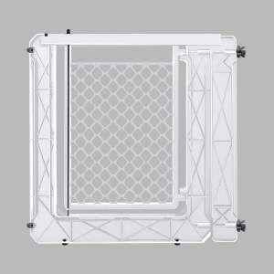 Portao plastico com extensor branco - Furacao Pet - 74x80x3cm