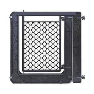 Portao plastico com extensor black - Furacao Pet - 74x80x3cm