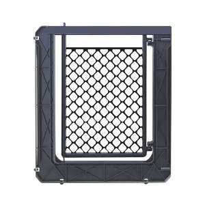 Portao plastico sem extensor para caes preto - Furacao Pet - 64x80x3cm