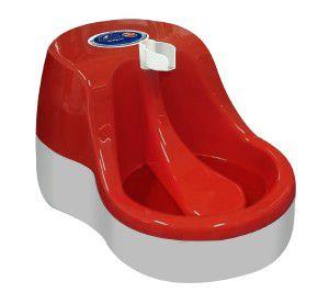 Fonte plastica automatica para gatos 2,5L - Vermelho - 220V - Furacao Pet - 39,2x26,5x20cm