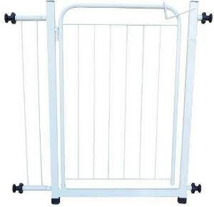 Portão de segurança com extensor branco