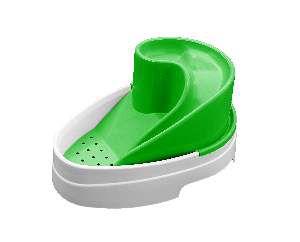 Fonte plastica automatica tobo fonte verde bivolt 2,5L - MEC PET - 38x27x19cm