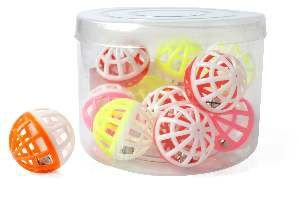 Brinquedo plastico bola com guizo kit com 12 unidades - Napi