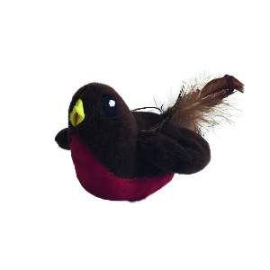 Brinquedo poliester passarinho de corda com pena - Home Pet - 8,5cm