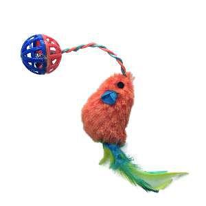 Brinquedo plastico/nylon ratinho com bolinha sortido - Home Pet - 7,5cm