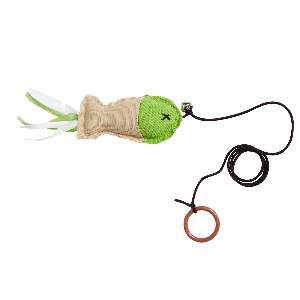 Brinquedo poliester peixe com barbante para gatos - Home Pet - 5x3x16cm
