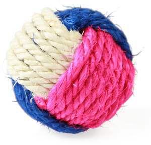 Brinquedo sisal bola para gatos - Napi - 6 cm