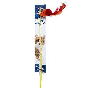 Brinquedo plastico varinha com ratinho colorido - Home Pet - 35cm