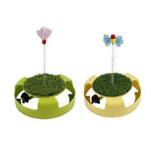 Brinquedo plastico play cat tuim com graminha - American Pet's - 31x26cm