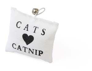 Brinquedo catnip almofada com guizo - Napi - 10x9cm