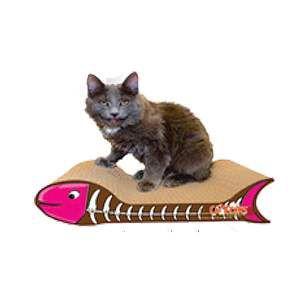 Arranhador papelao kitty com catnip - Chalesco - 36,5x20x10cm