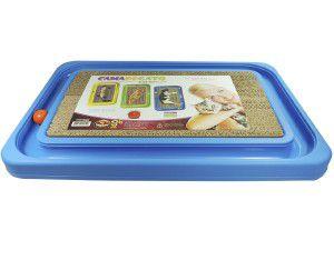 Brinquedo plastico e papelao cat relax medio - Azul - Furacao Pet - 40x36x4cm