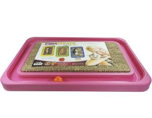 Brinquedo plastico e papelao cat relax medio - Rosa - Furacao Pet - 40x36x4cm