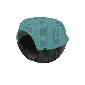 Toca do gato plastico paris verde tifanny - Furacao Pet - 53x41x40cm