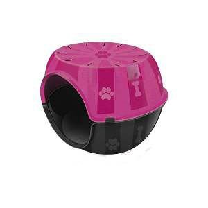Toca do gato plastico paris rosa - Furacao Pet - 53x41x40cm
